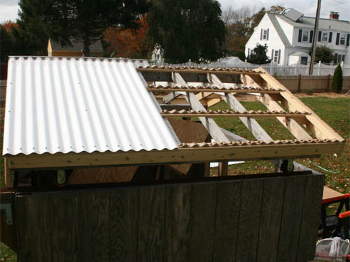 The Rafters For The Roof Are Finished And Ready For The Roof Panels To Be  Installed. Because The Load Will Only Be Snowfall Using 2x4u0027s Should Not Be  A ...